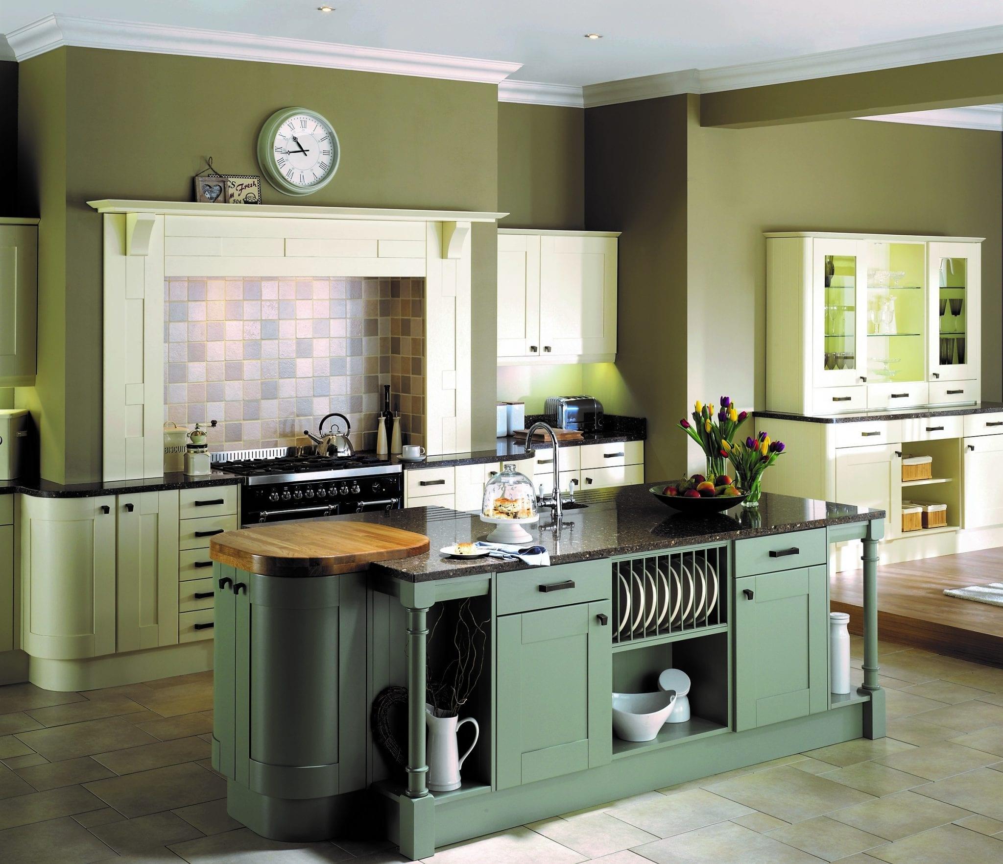 Alchemy style kitchen in Olive Green