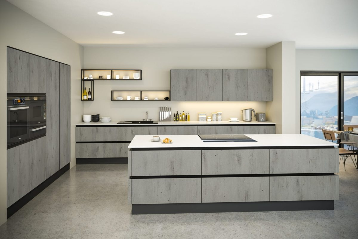 Concrete style kitchen