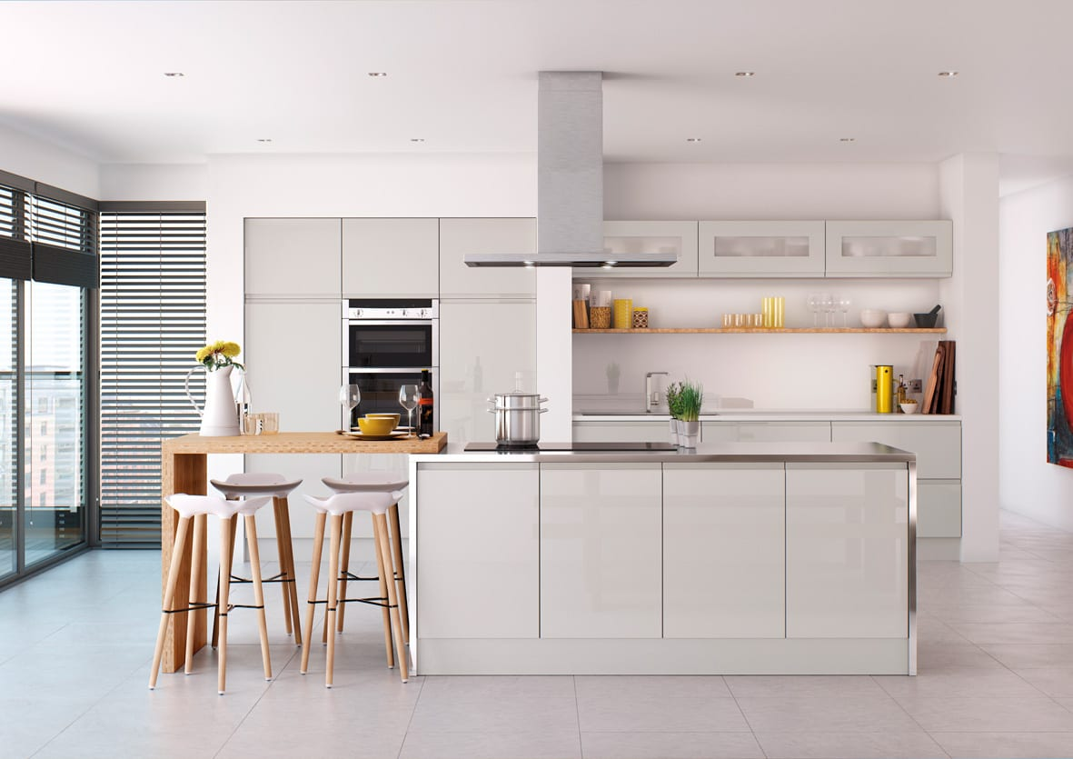 Roma kitchen in gloss grey