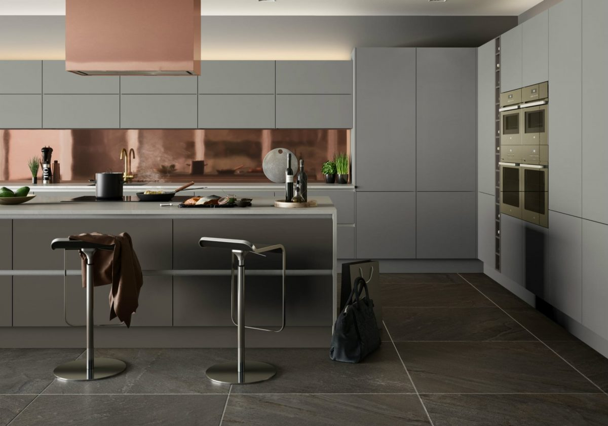 Urban Linea Light Grey and Stone Grey kitchen
