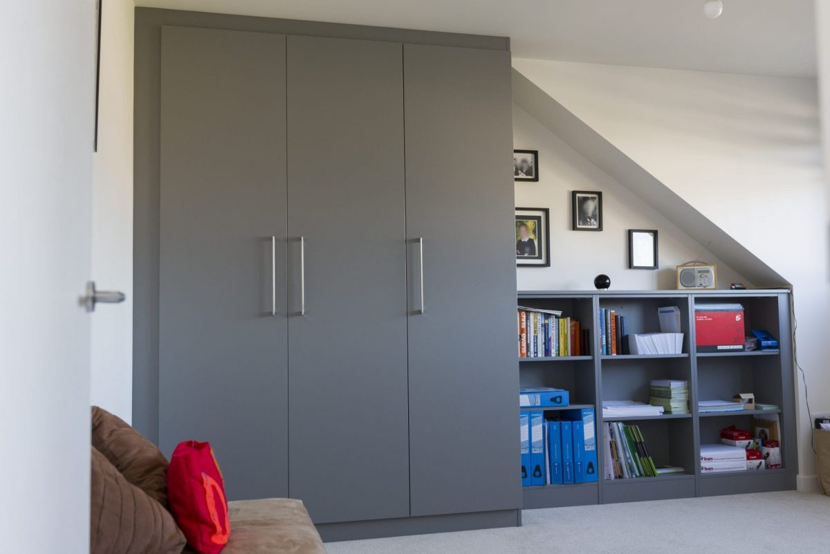 Fitted Storage unit in grey