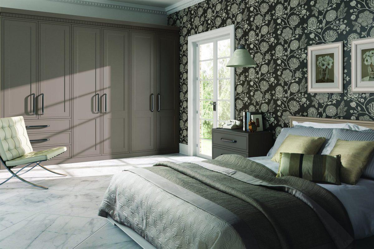 Bella Tullymore bedroom in matt stone grey