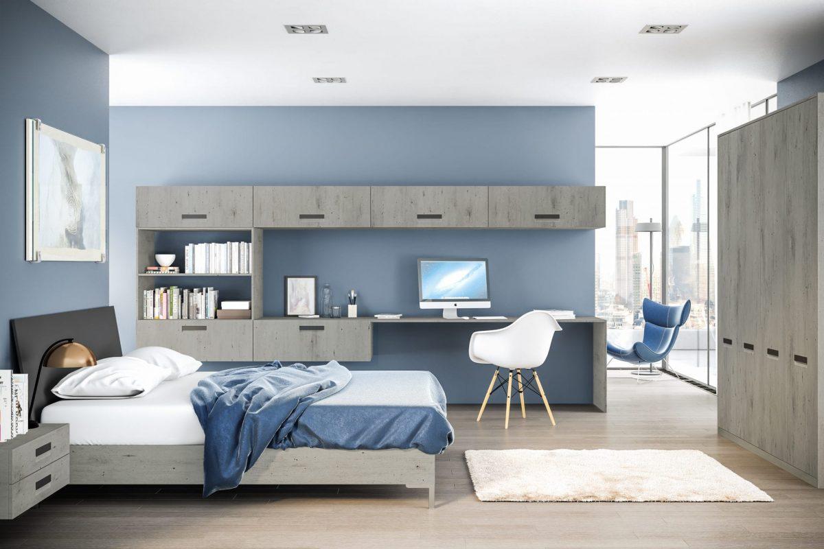 London Lazio Bedroom In Concrete Finish