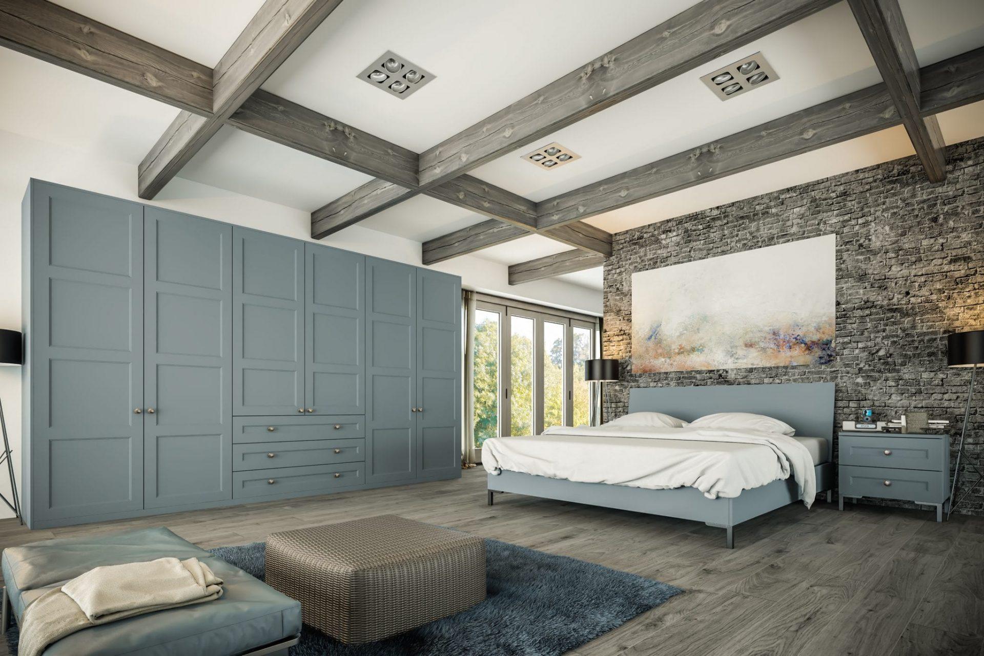 Aldridge Bedroom in Matt Denim