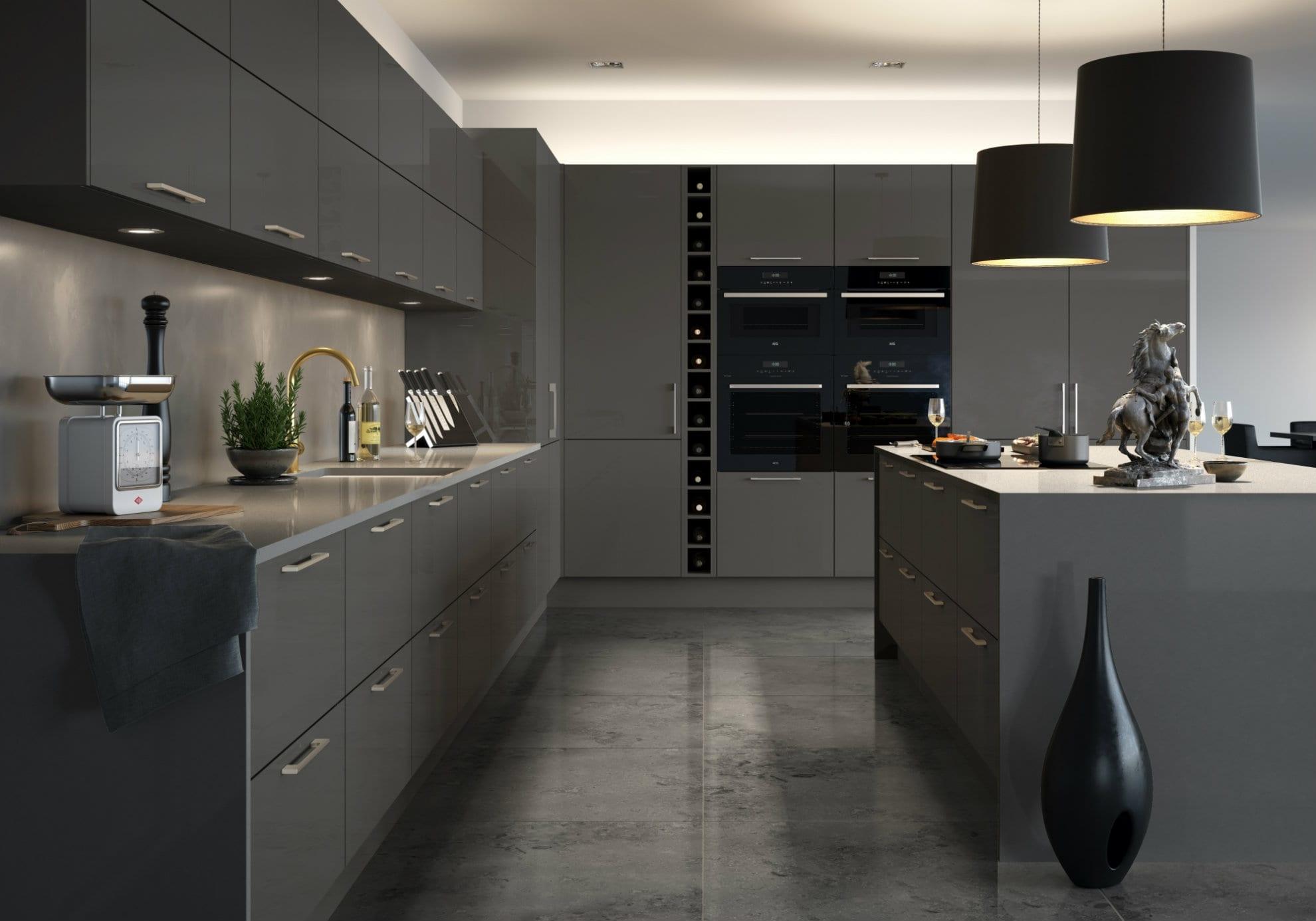Napoli kitchen in medium grey