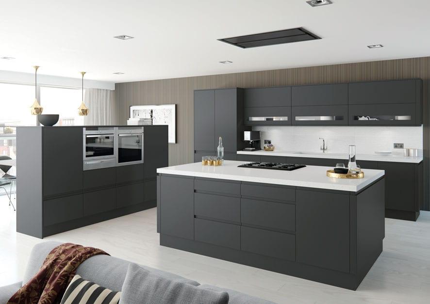 Matt Roma kitchen in anthracite grey