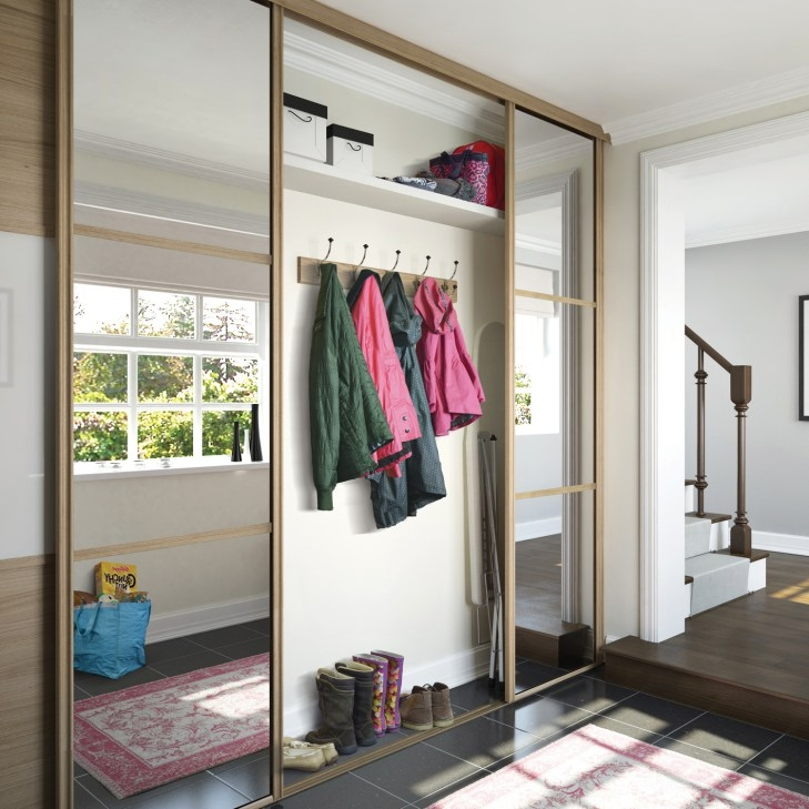 Classic sliding doors with storage space