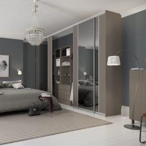 Contour range of sliding doors