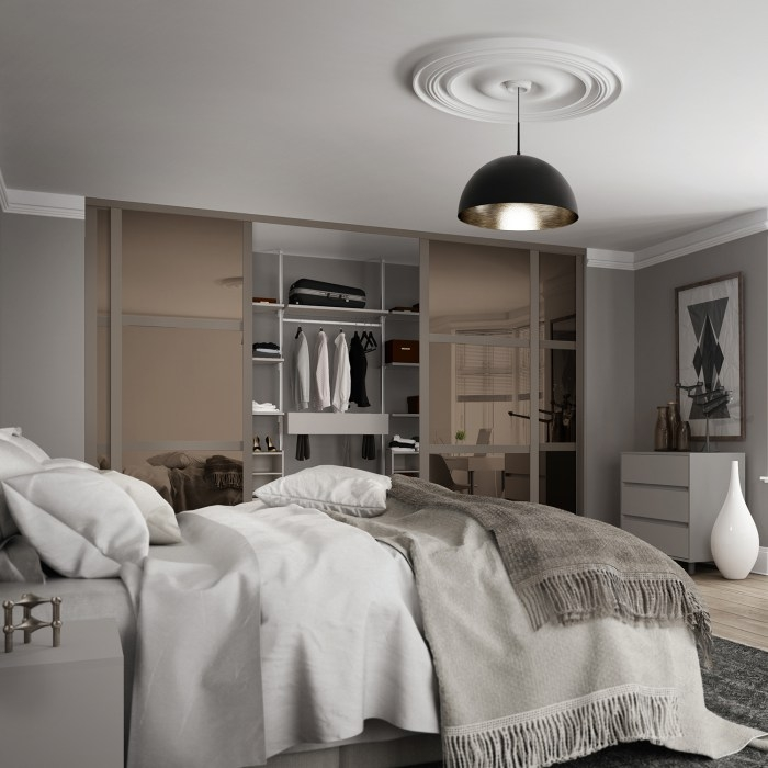Shaker bedrooms with wood finish