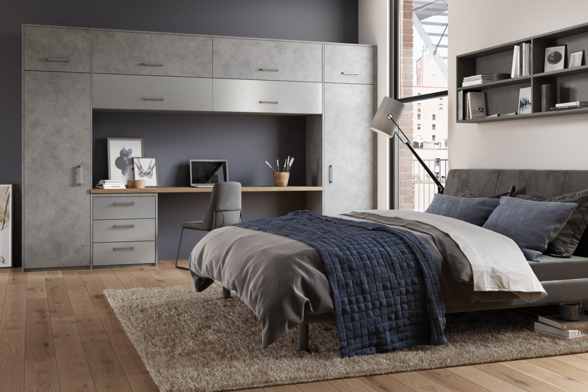 Magma Steel and Stainless Steel Bedroom