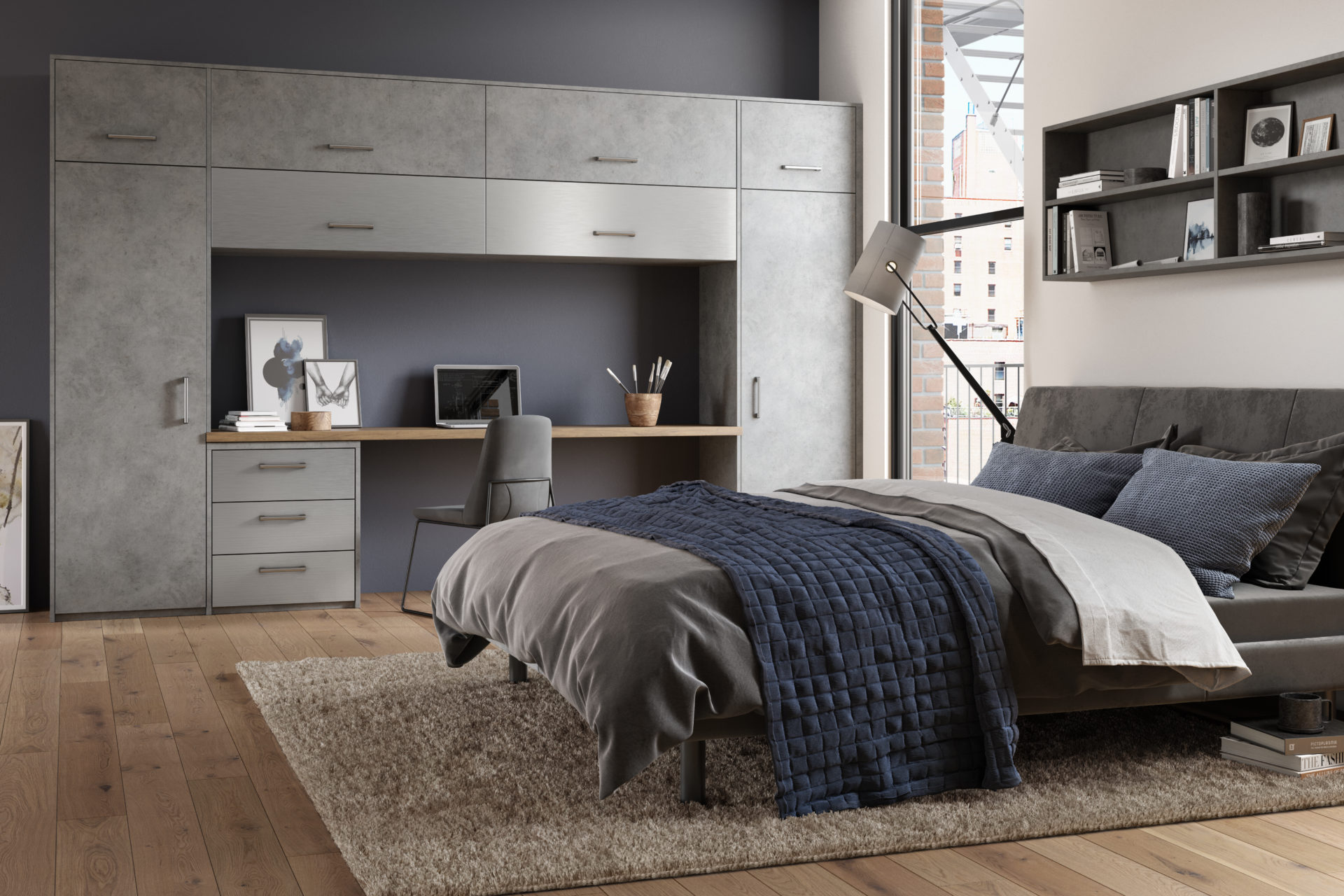 Magma Steel and Stainless steel fitted bedroom