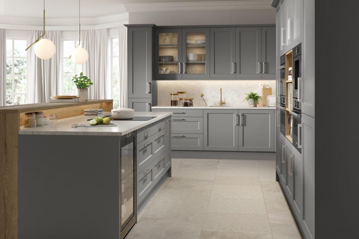 Dark Grey Shaker Kitchen Hampshire