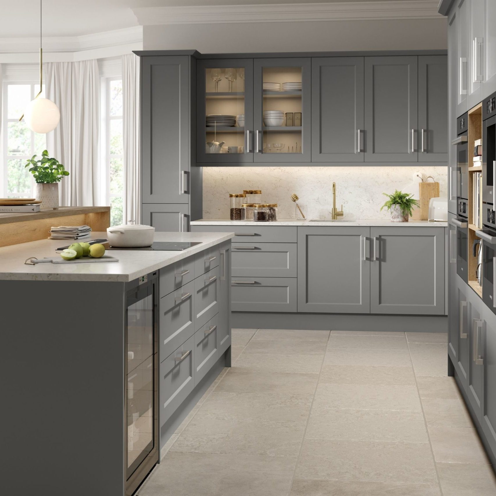 Dark Grey Shaker Kitchen Hampshire