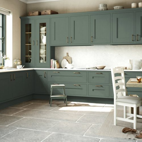 Gawsworth Antique Green kitchen