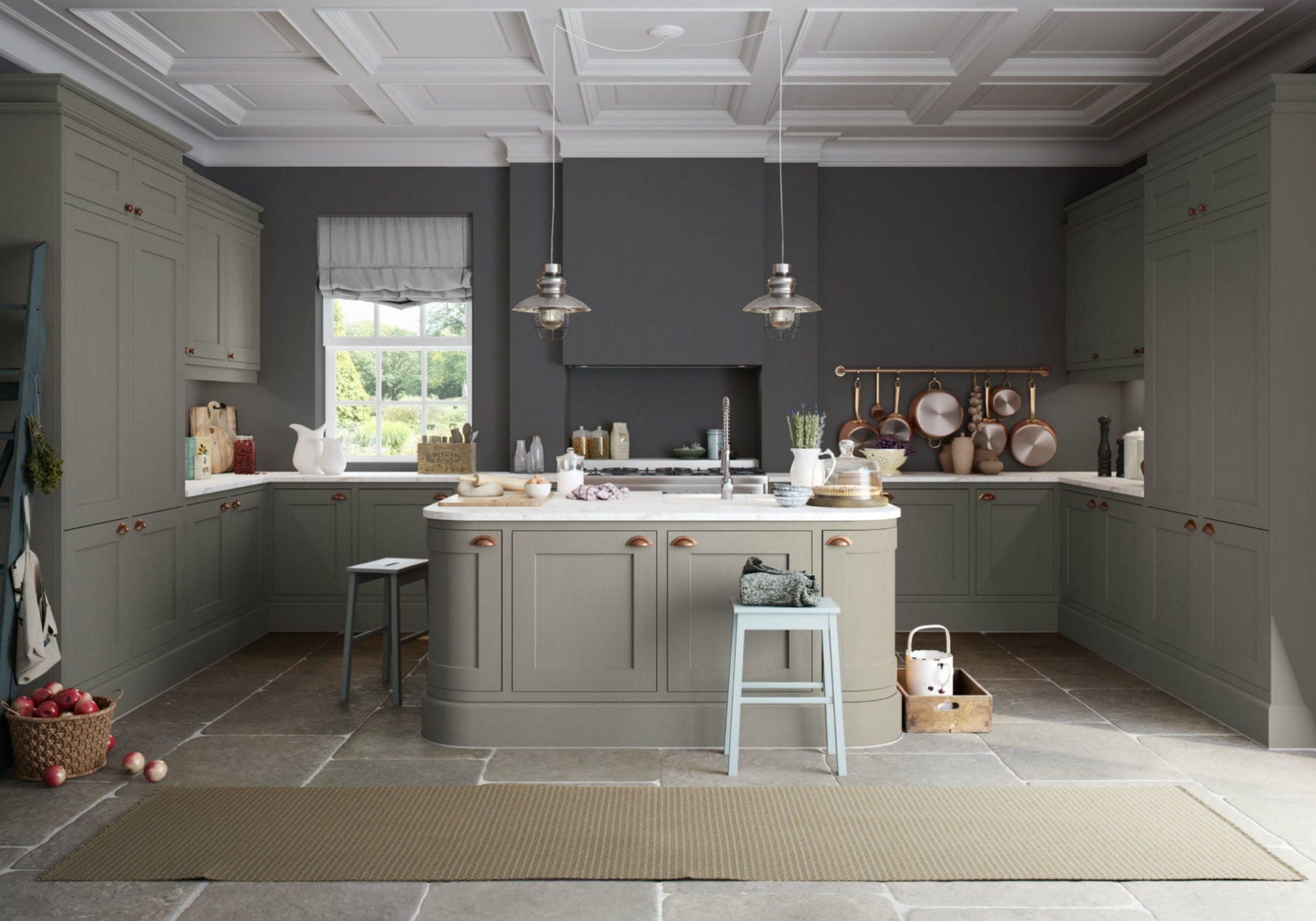 Grey In Frame Kitchen Hampshire